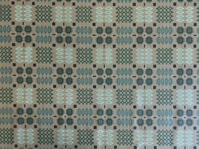 Welsh Oilcloth Grey Aqua S50