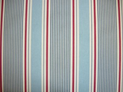 Clarke and Clarke Sail Stripe Marine