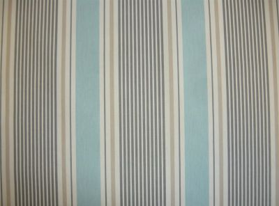 Clarke and Clarke Sail Stripe Mineral