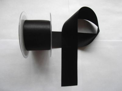 50mm Satin Ribbon Black