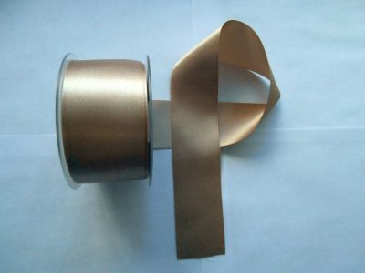 50mm Satin Ribbon Ecru