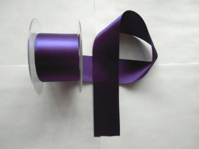 50mm Satin Ribbon Liberty Purple