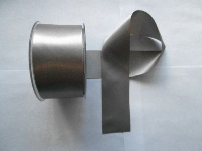 50mm Satin Ribbon Silver