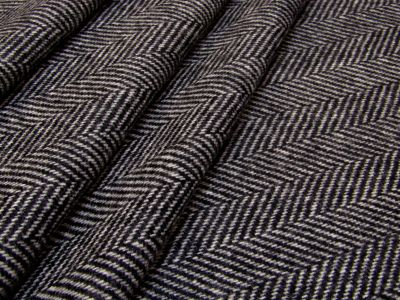 Moon Scoraigh Herringbone Wool Charcoal