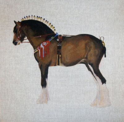 Shire Horse Cushion Panel 18
