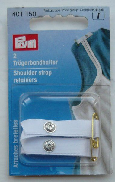 Prym Shoulder Strap Retainers White