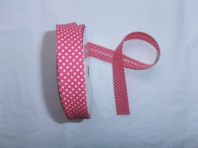 Fuchsia Spotty Bias Binding