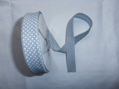 Grey Spotty Bias Binding