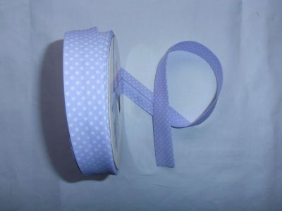 Lilac Spotty Bias Binding
