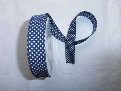 Navy Spotty Bias Binding