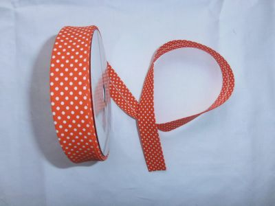 Orange Spotty Bias Binding