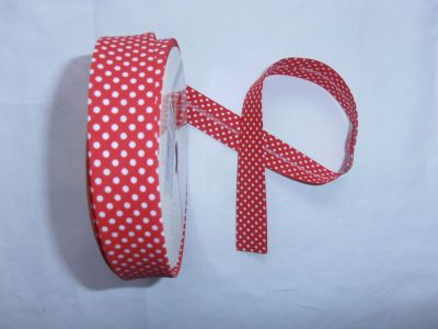 Red Spotty Bias Binding
