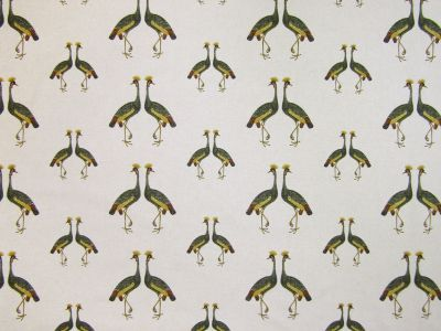Tropical Bird Pair Linen T263