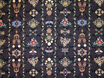 Grandmas Jewels Tapestry Black T271