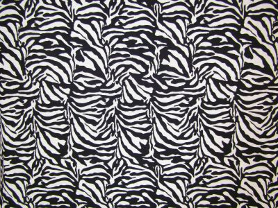 Zebra Tapestry Black White T272