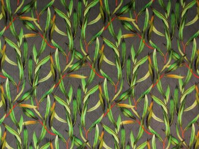 Tropical Leaf Velvet Grey T284