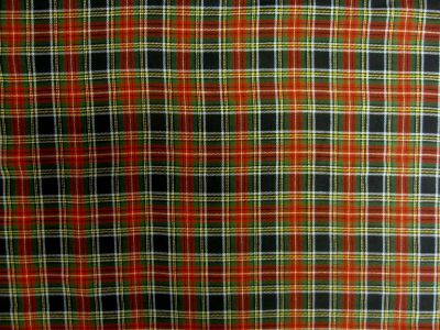 Navy/Red Tartan Cotton Fabric