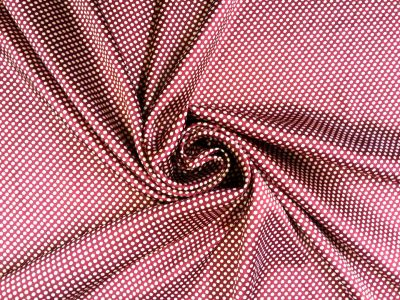 Medium Polka Dot Sateen Ruby Tex Ex 1218