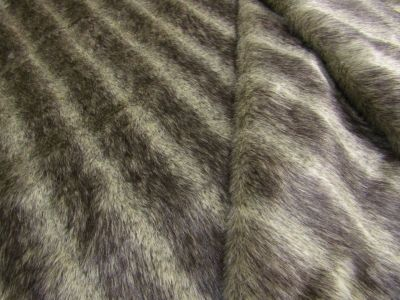 Luxury Stripe Fur Brown Beige Tex Ex 1654