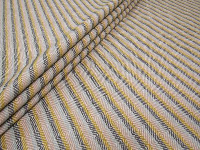 Corfu Stripe Gold Blue Tex Ex 1743