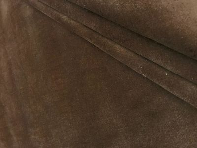 Stretch Velvet Dark Brown Tex Ex 1805