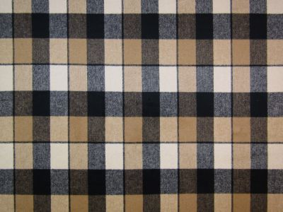 Autumn Check Wool Touch Camel 1889