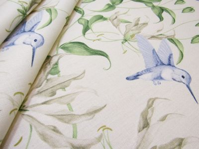 Humming Bird Cream Blue Tex Ex 1943