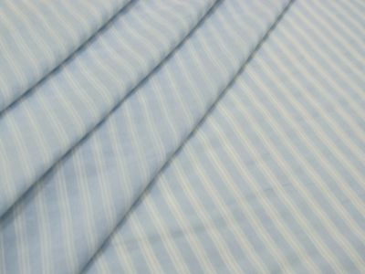Ticking Stripe Voile Pale Blue Tex Ex 2084