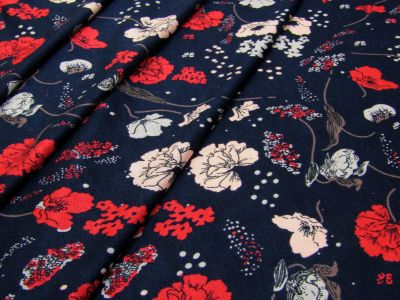 Poppy Field Jersey Navy Red Tex Ex 2085