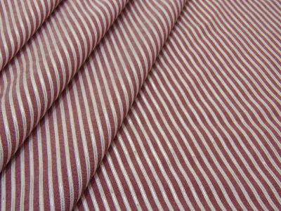 Shiny Stripe Shirting Wine Tex Ex 2087