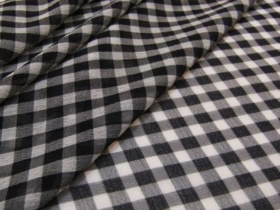 Gingham Georgette Black Beige Tex Ex 2089