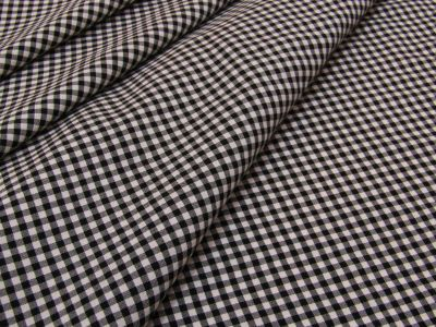 Mini Gingham Viscose Black and White Tex Ex 2090