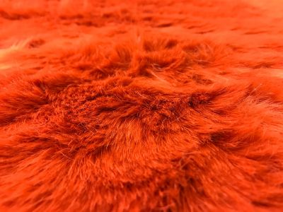 Luxury Extra Wide Fur Orange Tex Ex 2137
