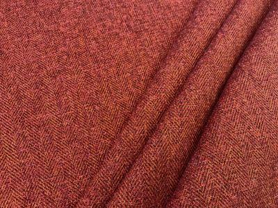Toscana Brushed Herringbone Racing Red Tex Ex 2149