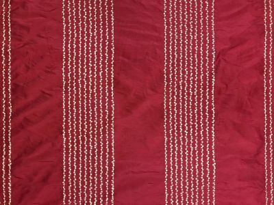 Pom Pom Stripe Silk Raspberry Tex Ex 2154