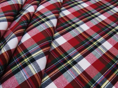 Christmas Tartan Red Green White Tex Ex 2180