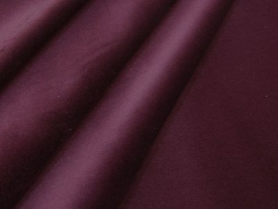 Louis Cotton Velvet Aubergine Tex Ex 2187
