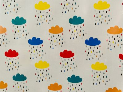 Clouds & Rain Laminated Cotton Multi 2239