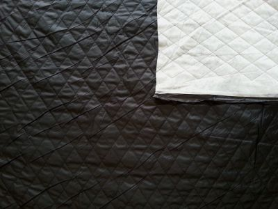 Showerproof Quilting Black Tex Ex 683