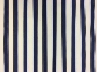 Ticking Stripe PU Coated Navy C163  Sample