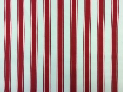 Ticking Stripe PU Coated Red C164