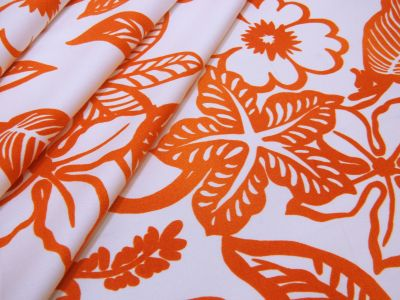 Tropical Flowers Orange U111