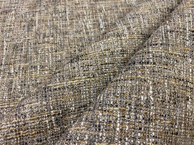Boucle Style Upholstery Brown Taupe Camel U151