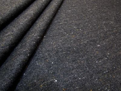 Lightweight Herringbone Wool Charcoal U33