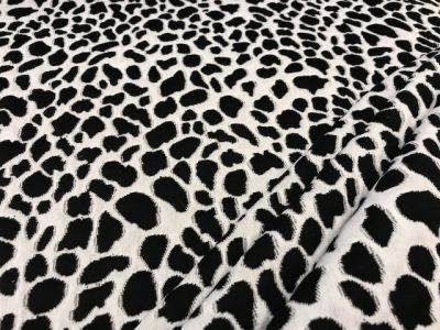 Animal Print Heavy Jersey Black Off White U57