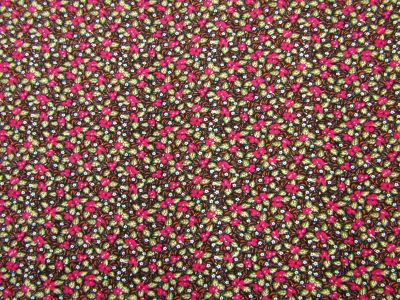 Vintage Floral Needlecord Pink Multi I135
