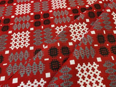 Welsh Blanket Tapestry Red R48