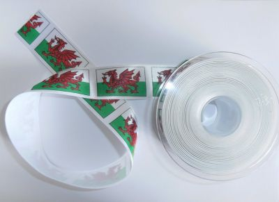 Welsh Dragon Ribbon 25mm