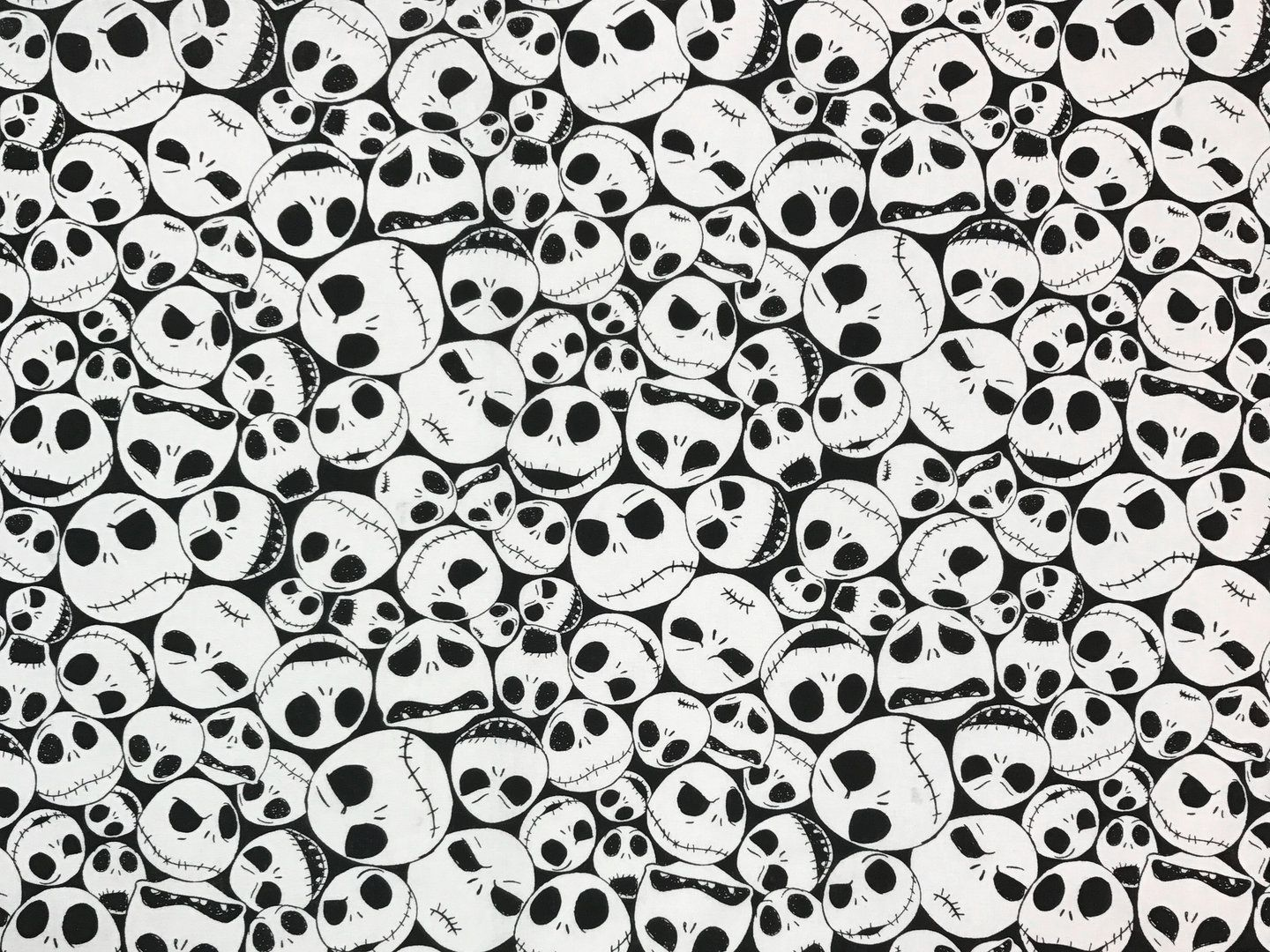 Nightmare Before Christmas Black White D60   Textile Express   Fabric