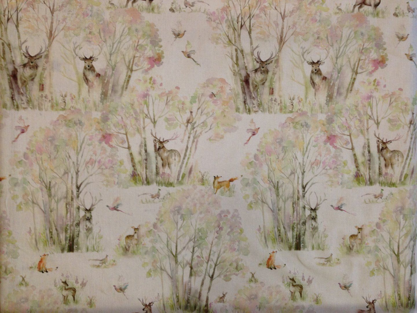 Voyage Enchanted Forest Linen Textile Express Fabric